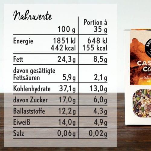Seedheart Cashew & Cacao - Nährwerte
