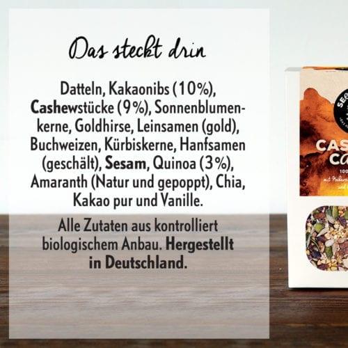 Seedheart Cashew & Cacao - Zutaten