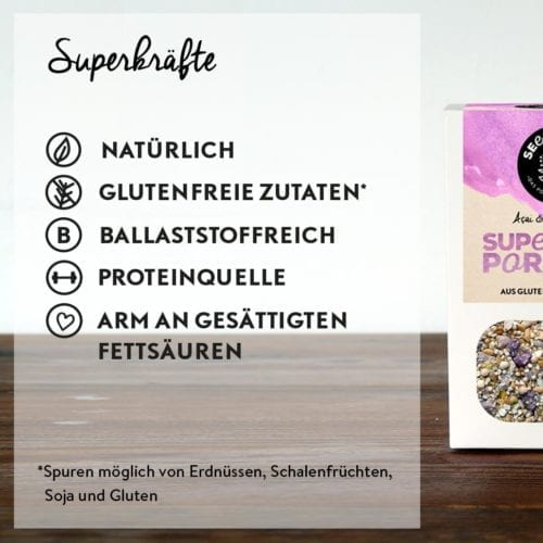 Superkräfte - Superfood Porridge Acai and Wild Berry