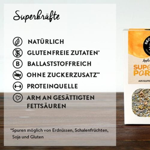 Das steckt in Superfood Porridge Apple & Cinnamon