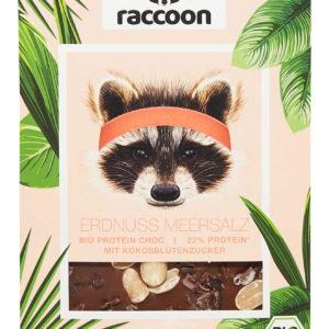 Raccoonchoc Erdnuss & Meersalz