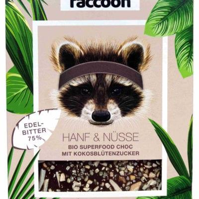 Raccoonchoc Hanf & Nüsse