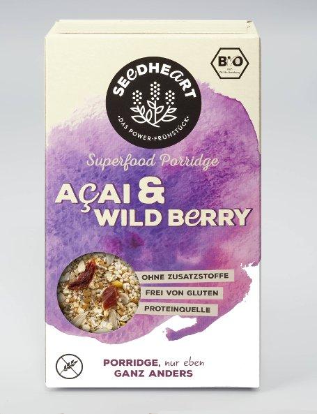 Porridge Acai Wild Berry glutenfrei