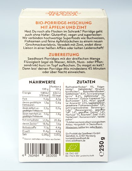 Porridge Apple Cinnamon glutenfrei